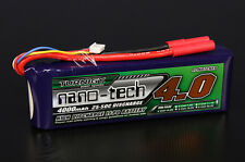 Turnigy Nano-Tech 4000mAh 4S 14.8V 25C 50C Lipo Battery HXT 4mm Bullet USA