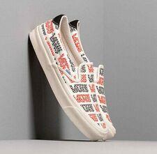 VANS OG SLIP-ON 59 LX Racing Red/ Logo Checkerboard Men's Skate Shoes Size 11.5