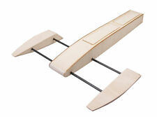 RC Outrigger Shrimp Boat Wooden Sponson Race Water Boat Kit to Build for Adult