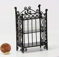 Dollhouse Miniature Victorian Wall Shelf in Black Wire
