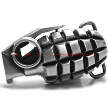 SBU1321 HAND GRENADE MILITARY ARMY BOMB TEAR GAS ROCKER BIKER ALLOY BELT BUCKLE