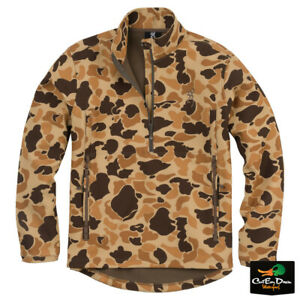 NEW BROWNING WICKED WING 1/4 ZIP SMOOTHBORE JACKET - VINTAGE TAN CAMO -