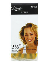 "Diane D5026 Yellow  IONIC CERAMIC THERMAL 2-1/2"" HAIR ROLLERS CURLERS SELF GRIP"