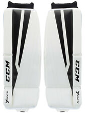 "New CCM YTflex Ice Hockey Goalie leg pads Youth 22"" white black pad goal"