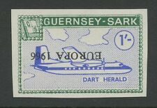 Guernsey SARK 1966 Europa 1s PROOF INVERTED ovpt error