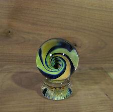 "Vortex Blown Art Glass Marble with Display Stand 1.75"" inch"