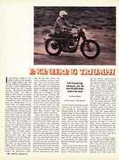 1970 TRIUMPH MOTORCYCLE ENGINEERING  ~ ORIGINAL 2-PAGE ARTICLE / AD