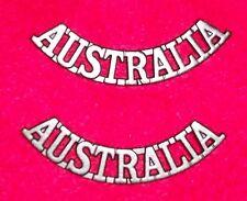 AUSTRALIA SHOULDER TITLES  WW1-WW2 AUSSIE - REPRODUCTION PAIR