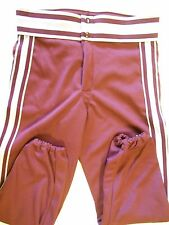 "NOS Vtg 80s Howe Men's Baseball Pants  Med. 30""-32""  Maroon Silver White  USA"