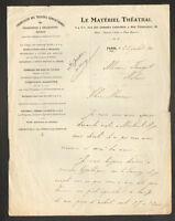 """PARIS (XVIII°) PROJECTEURS & REFLECTEURS """"LE MATERIEL THEATRAL"""" en 1905"""