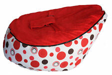 BABY  TODDLER BEAN BAG SEAT HARNESS CHILD BABY SHOWER PRESENT GIRL  RED PINK