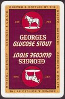 Playing Cards 1 Single Card Old GEORGES Brewery GLUCOSE STOUT BEER Advertising B