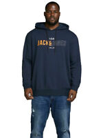 Jack & Jones Mens Plus Size Sweatshirt Hoodie Pullover Casual Tops 3XL - 6XL