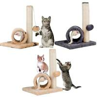 Cat Kitten Pet Sisal Grab bar Play Tree Plush Tunnel Mouse Ball Fun Play UK