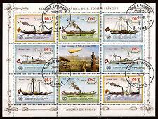 SAN TOME E PRINCIPE  Les bateaux à vapeurs bloc 4 paires +vignette 551a137a