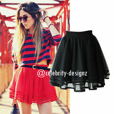 Tulle Solid Regular Size Skirts for Women