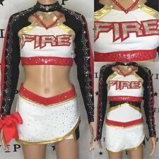 Cheerleading Uniform Real Allstar Fire  Adult Med