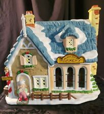 """Absolutely Perfect! Thomas Pacconi """"North Pole Bakery"""" Lighted & Musical Ceramic"""