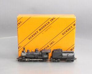 Sunset Models 1242 HO Brass UP 4-6-0 Locomotive & Tender - Painted EX/Box