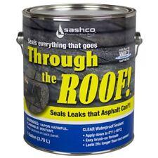Roof Sealant 1Gal Container Clear Coat Leak Repair Gutter Maintenance Waterproof