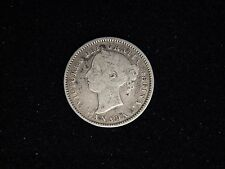 1891 Canada 10 Cents Silver - Young Victoria
