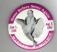 """Vintage Movie Pin Marilyn Monroe Pin Never Before Never Again Pin 3 """""""