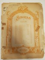 Sonatas Haydn Piano Sheet Music Vintage Antique