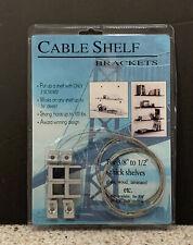 "CABLE SHELF BRACKET for 3/8""-1/2"" thick shelf & up to 16"" deep Design By Landau"