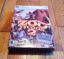 Zoo Tycoon 2 Extinct Animals Expansion Pack (PC, 2007) - NEW