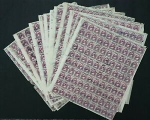 U.S. Used #784 3c Susan B Anthony Reassembled Sheets of 100 (Lot of 17). Unique!