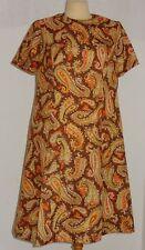 Kleid Paisley Muster Synthetik Polyester 60iger Jahre original Vintage