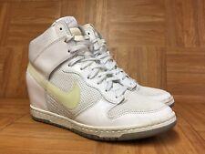 RARE🔥 Nike Dunk Sky Hi Sneaker Wedge White Gray Sz 9.5 644877-100 Sneakerboots