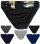 3,6 Pack  Mens Sports Soft Cotton Ribbed Slips Briefs Pants Underwear Hipsters