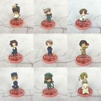 Axis Powers Hetalia set of 9pcs base PVC figure model doll dolls anime toy new