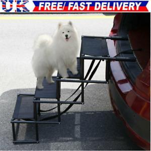 Upgraded Lightweight Foldable Folding Outdoor Pet Dog Car Boot Access Ladder UK