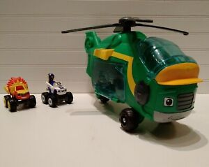 Blaze And The Monster Machines Swoops Helicopter & 2 Diecast Vehicles Lot Set