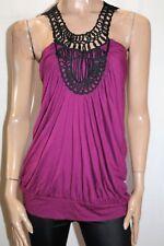 Valleygirl Brand Purple Open Back Sleeveless Blouse Top Size M BNWT #SV50