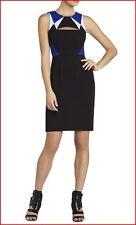 BCBG MAXAZRIA KARIN BLACK COMBO COLOR BLOCK CUTOUT DRESS 8 NWT $298-RackK/88