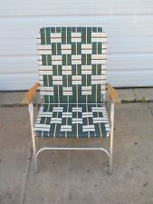 #13 VINTAGE LAWN DECK CAMPING CHAIR WEB ALUMINUM FOLDING WEBBED patio RETRO