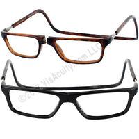 CliC EXECUTIVE MAGNETIC Reading Glasses Tortoise or Black BIG LENS  1.25 to 3.00