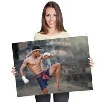 Muay Thai Motivacional impresión fotográfica 06 motivación citar Cartel Mma Artes Marciales