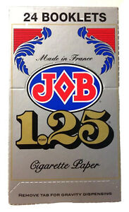 24 Booklets Job Silver Light 1.25 Cigarette Rolling Papers Full Box