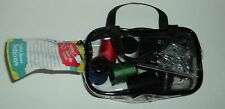 Crafter's Square Notions Travel Sewing Kit BLACK and Clear IN Zipper Case NWT