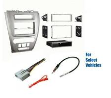 Silver Car Stereo Install Dash Kit Combo for 2010-2012 Ford Fusion Mercury Milan