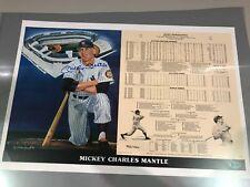 MICKEY MANTLE Auto14x21 Beckett cert Stat sheet