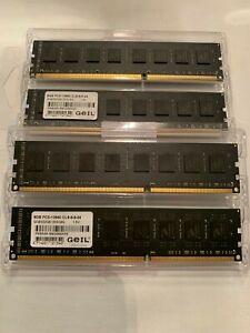 32GB Geil Black Dragon (4x8GB) PC3-10666 DDR3 RAM, 1333 Mhz, rote LED´s