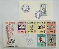 KOREA fdc like special cover soccer Italy 1990 Germany winner + memo card 1982