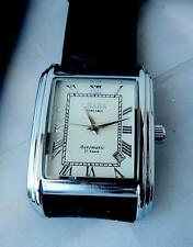Polished Silver Strap Wristwatches with Date Indicator