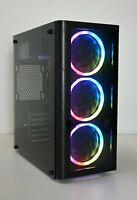 BUDGET FAST GAMING PC RGB 3.6 Ghz CPU 8 GB RAM 2GB GT 710 Windows 10 Wifi