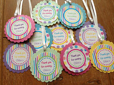 Rainbow Personalised Thank you Tags ~ Birthday, Baby Shower, Christening, Naming